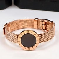 8DESS BVLGARI Women Fashion Plated Bracelet