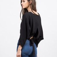 Woven Caped Crop Top
