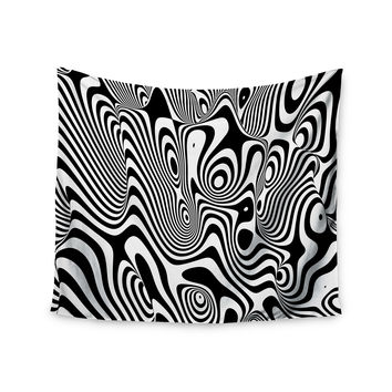 "Danny Ivan ""Trippy"" Black White Wall Tapestry"