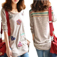Autumn T Shirt Plus Size M~4XL Loose Casual Basic Shirt Long Sleeve Women Tops Full Sleeve O Neck Cotton t shirt women
