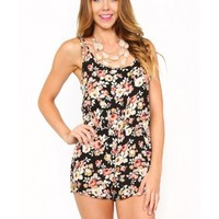 Young Blossom Woven Romper