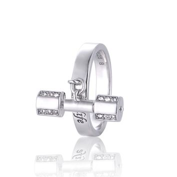 Strong Is Beautiful Pendant Sports Ring
