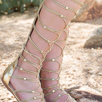 Goddess Gladiator Sandals - Gold