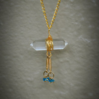 Gold Wrapped Crystal Necklace