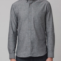Chambray Pindot Long Sleeve Shirt