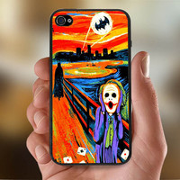 SCREAM BATMAN and JOKER  - Photo Print for iPhone 4/4s Case or iPhone 5 Case - Black or White