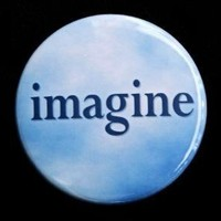 Imagine Button Pin by theangryrobot