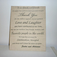 Custom Wedding Muslin Canvas Board- personalized with your names, canvas board, 8 x 10