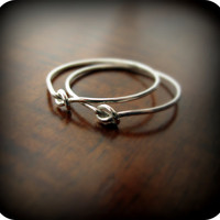 Friendship knot rings - best friends recycled sterling silver rings - Cyber Monday Etsy Sale 20% off