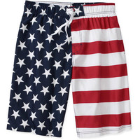 Faded Glory Men's American Flag Boardshorts - Assorted Sizes