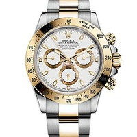 Rolex Daytona Grey Chronograph Steel And Yellow Gold Mens Watch 116523GYSO