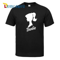 mens t shirts fashion 2018 Sexy Girls Pin Up BARBIE Head with Signature Novelty T Shirt Summer High Quality Hipster Cool Tee