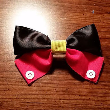 Mickey Mouse inspired Disney Hair bow