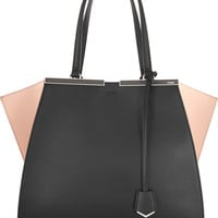 Fendi - 3Jours two-tone leather tote