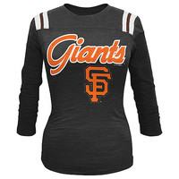 San Francisco Giants Women's Slub 3/4 Sleeve T-Shirt by 5th & Ocean - MLB.com Shop