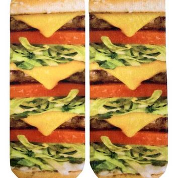 Burger Love Ankle Socks