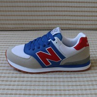 """""""New Balance"""" Sport Casual Multicolor N Words Breathable Unisex Sneakers Couple Running Shoes"""