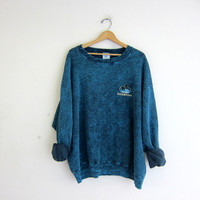 20% OFF SALE vintage blue pigment dyed sweatshirt. oversized pullover Bermuda sweater. size XL