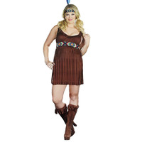 Dreamgirl Womens Tribal Trouble Indian Halloween Party Dress Costume