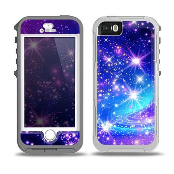 The Glowing Pink & Blue Starry Orbit Skin for the iPhone 5-5s OtterBox Preserver WaterProof Case