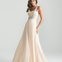 Madison James 6679 In Stock sz 4 Champagne Bridal Wedding or Formal Dress