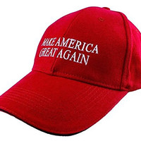 Allezola Unisex Embroidered Make America Great Again Hat Donald Trump 2016 Adjustable Cap Baseball Hat(Red)(FBA)