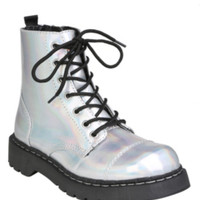 Anarchic By T.U.K. Iridescent Combat Boot
