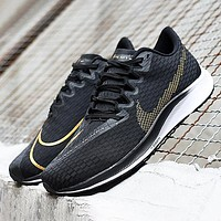 Nike Zoom Fly New fashion hook print sports leisure shoes Black