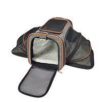Diamond Series Double Expandable Airline Approved Soft Sided Pet Carrier
