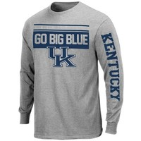 Majestic Kentucky Wildcats Breathe Victory Long Sleeve T-Shirt - Ash