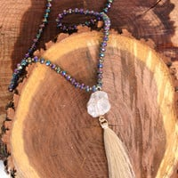 A FAITHFUL BELIEVER NECKLACE - ABALONE