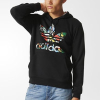 Adidas clover in the autumn of 2016 the new hooded sweater fleece jacket male BR2197