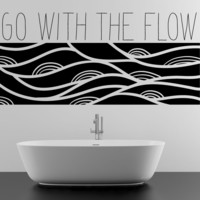 Vinyl Wall Decal Sticker Go With the Flow #OS_MB1157