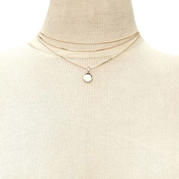 Layered Disc Charm Choker