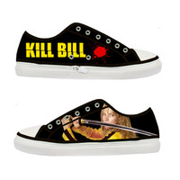 Kill Bill Uma Thurman Quentin Tarantino Women Canvas Shoes - Sizes: US 5 6 7 8 9 - EUR 36 37 38 39 40