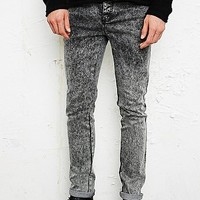 Indigo & Maine Sid Skinny Acid Wash Jeans in Black - Urban Outfitters