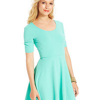 Ultra Flirt Juniors' Textured Skater Dress