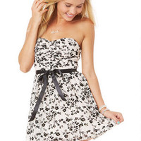 Ruched Front Party Dress