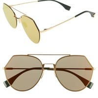 Fendi Eyeline 55mm Sunglasses | Nordstrom