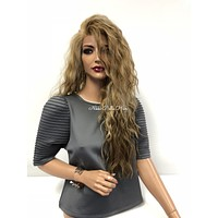 Blond Balayage Swiss wig 18"