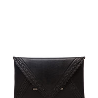 BCBGMAXAZRIA Harlow PU Envelope Wallet in Black