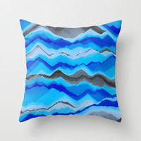 Water Mountains Throw Pillow by paulusj