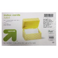 """up & up® - 100ct Ruled Index Cards 4""""X6"""" - White"""