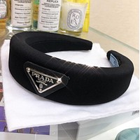Prada New fashion solid color headband women Black