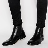 New Look | New Look Faux Leather Chelsea Boot at ASOS