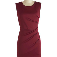 ModCloth Short Sleeveless Bodycon The More the Mulberry Dress