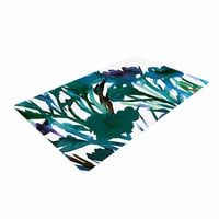 "Ebi Emporium ""Petal For Your Thoughts Teal"" Turquoise Green Woven Area Rug"