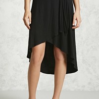 High-Low Tulip Hem Skirt