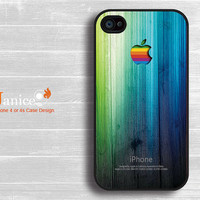 iphone 4 case iphone 4s case iphone 4 cover black iphone Verizon Sprint AT&T case colorize green wood  texture  style unique Iphone case
