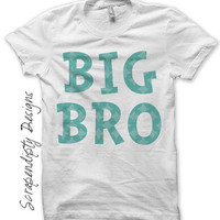 Brother Iron on Transfer - Birth Announcement Iron on Shirt PDF / DIY Toddler Kids Boys Shirt / Big Brother Little Brother Shirt Design IT84